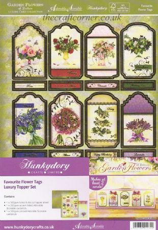 Favourite Flower Tags Luxury Topper Set By Hunkydory